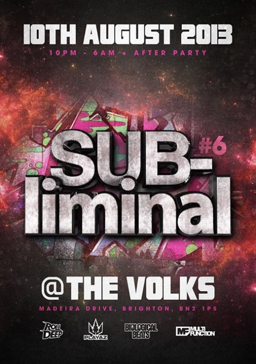 Subliminal Brighton 10th Aug 2013 [Front]