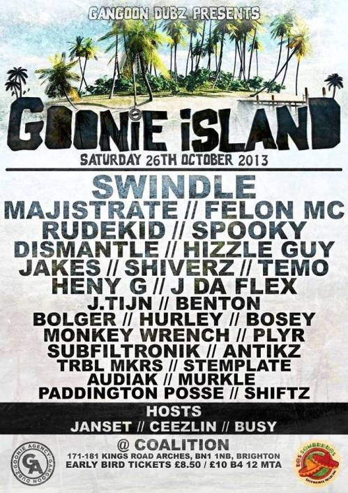 Goonie Island @ Coalition, Brighton - Sat 26 Oct 2013