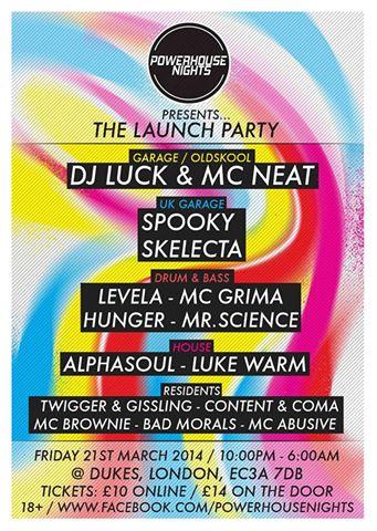 Powerhouse @ Dukes, London 21st March 2014
