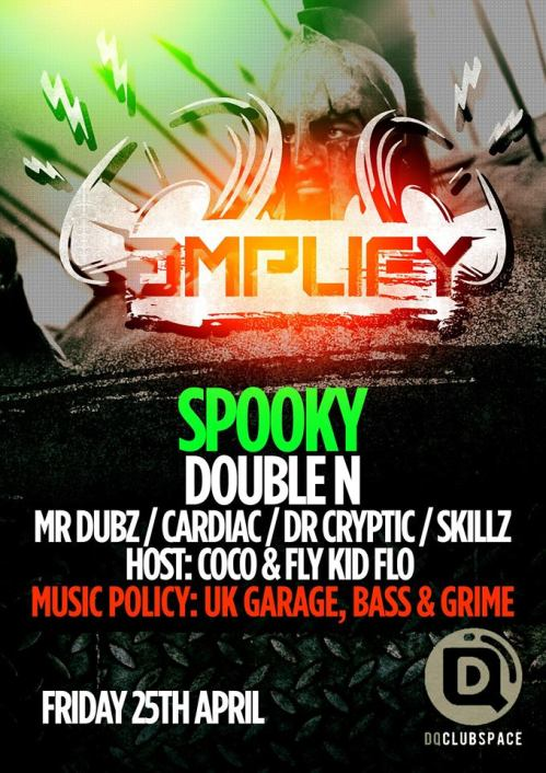 Amplify @ DQ, Sheffield - Fri 25 April 2014