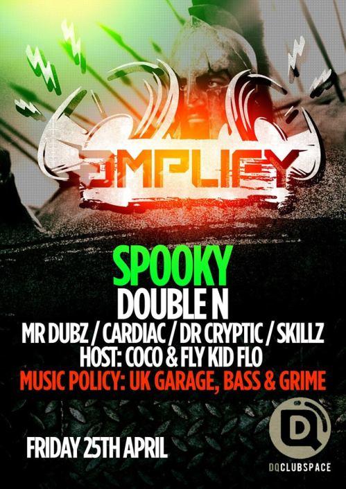 Amplify @ DQ, Sheffield - Fri 25 April 2014