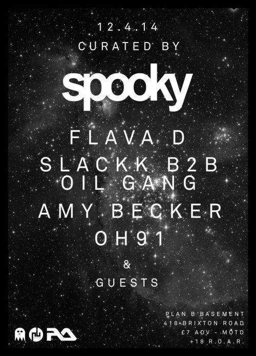 Curated By Spooky @ Plan B, LDN - Sat 12 April 2014