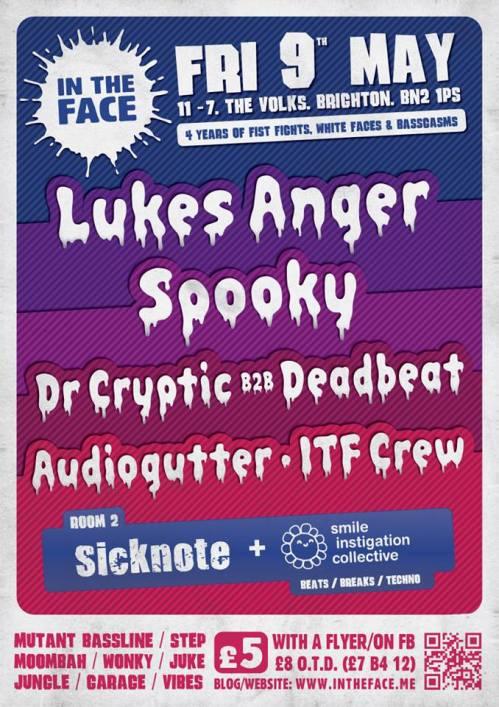 In The Face @ Volks, Brighton - Fri 9 May 2014