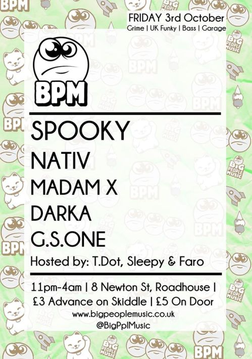 bpm roadhouse MCR 3 oct