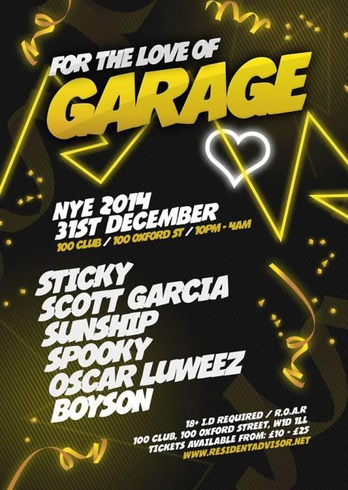 love of garage nye 31 dec