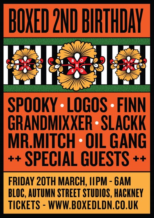 Boxed 2nd Birthday LDN 20 March
