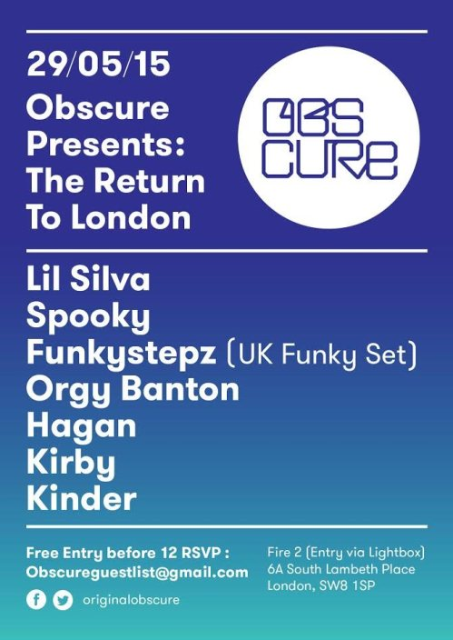 obscure 29 may